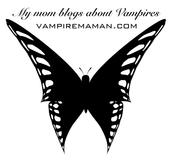 My mom blogs about vampires - the perfect shirt design for my teens. Wear it proud kids!