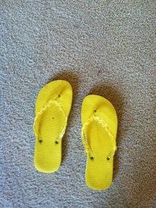 Yellow Flip Flops