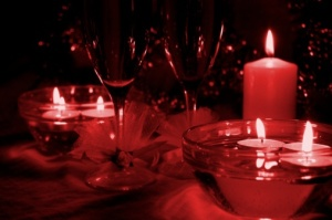 redwine and candles