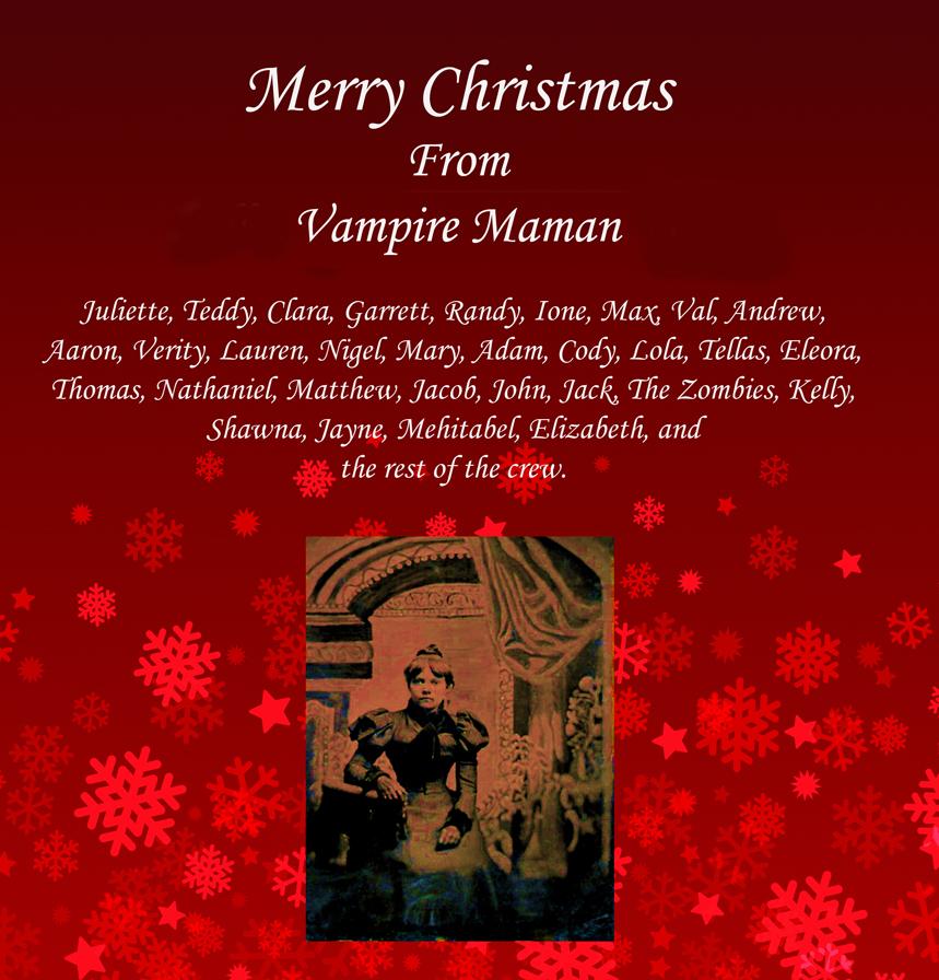 Vampire Christmas Girl