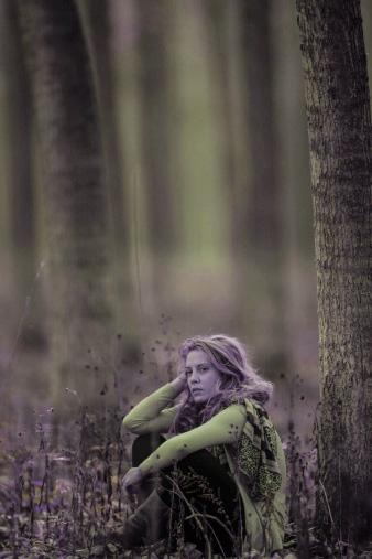 vm girl in woods