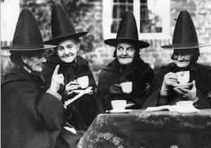 I wouldn't recommend eating ANYTHING a witch serves you. Just smile and say you have a stomach flu or better yet, run away.