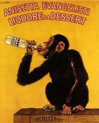 You gotta love a drinking chimp.