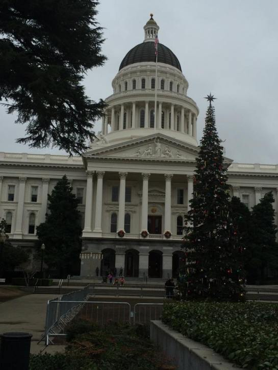 California State Capitol Building and State Christmas Tree, December 20, 2014