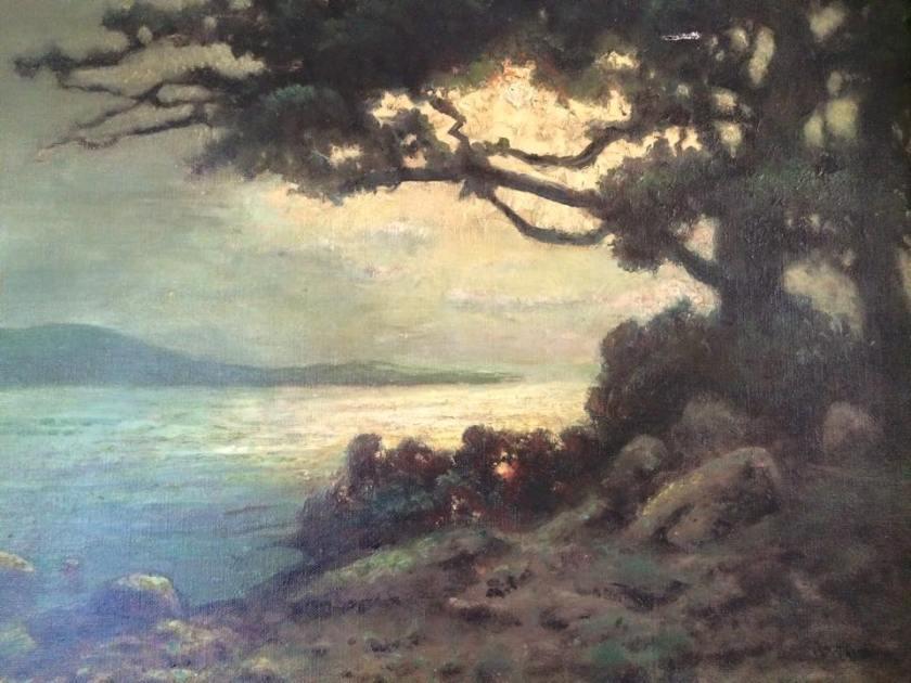 William Keith - Dusk near Monterey