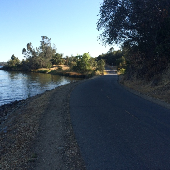 On the American River Bike Trail near Negro Bar.