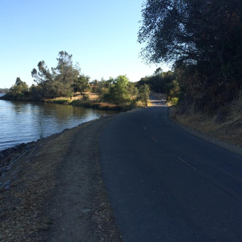 On the American River Bike Trail near Negro Bar.
