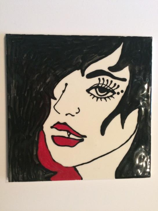 Vampire Girl Tile