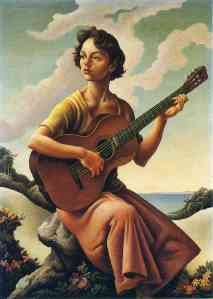 Jessie at the Guitar by Thomas Hart Benton