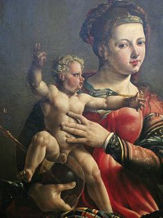 Mary with a mini body builder. I mean, dude, yes, you the artist. What were you thinking?
