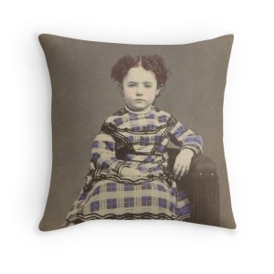 Emily in Purple Shown as pillow.