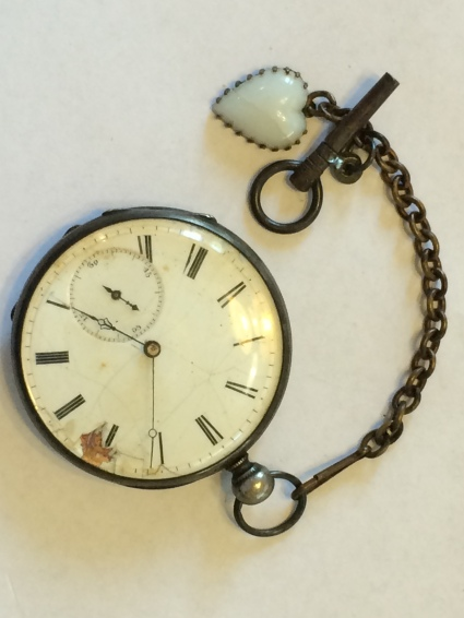 Antique Pocket Watch With A Heart