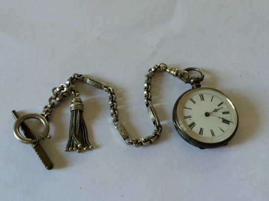 Antique watch with tassel fob