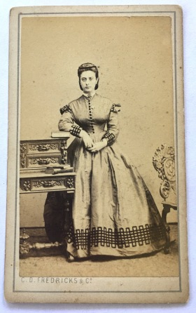 Civil War era dress. Check out the beautiful details.
