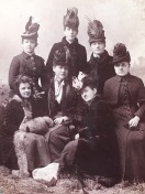 Fashionable friends in the 1880's with fabulous hats. Do you think they planned this or just happened to show up wearing these delightful creations?