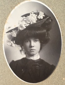 This one is a little later, from the 1890's. Flowers never go out of style.